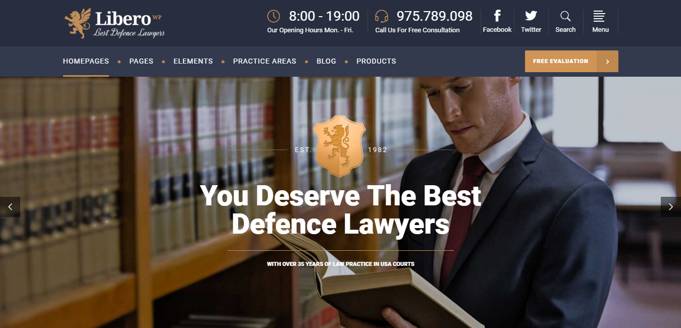 Libero - Lawyers and Law Firms WP Theme