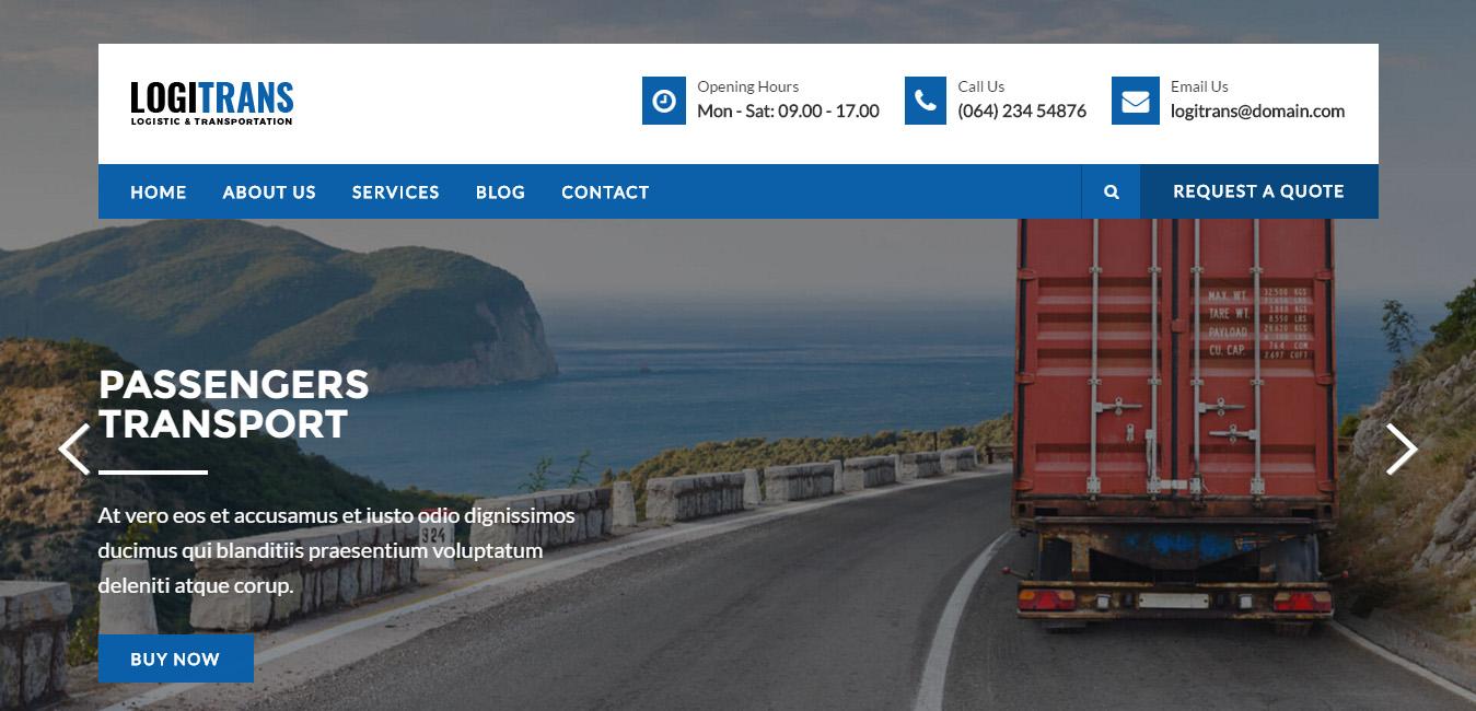 LogiTrans - Logistic WordPress Theme