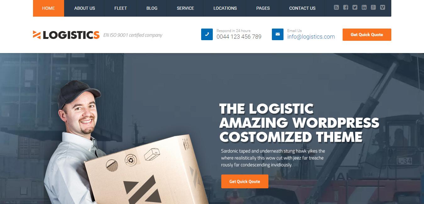 Logistics - Transportation Warehousing WP Theme