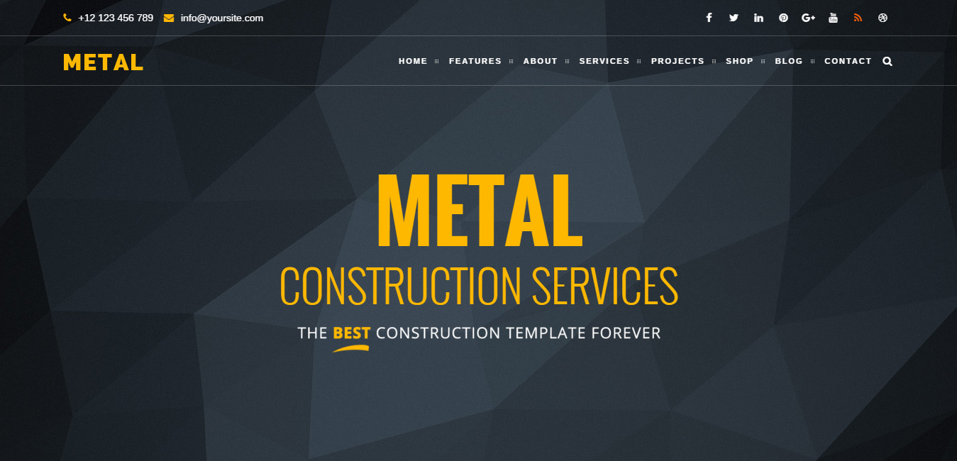 Metal - Building & Construction WordPress Themes
