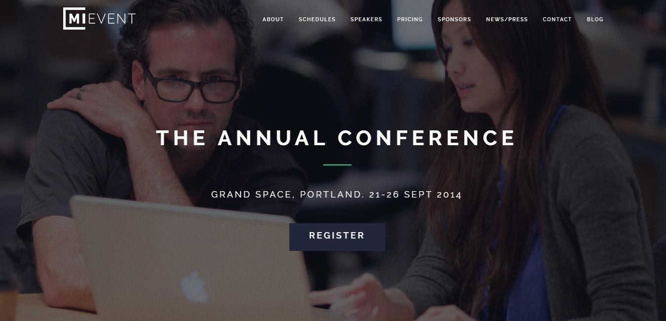 MiEvent - seminar WordPress themes