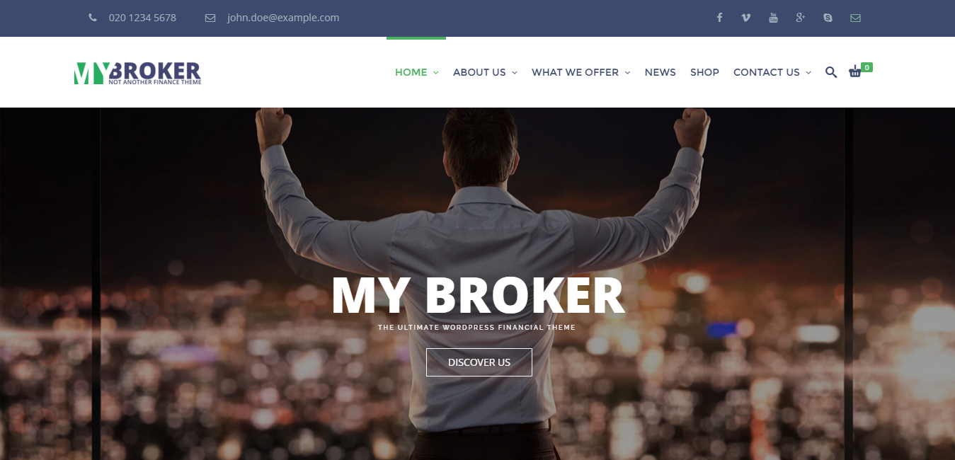 My Broker - Finance WordPress Theme
