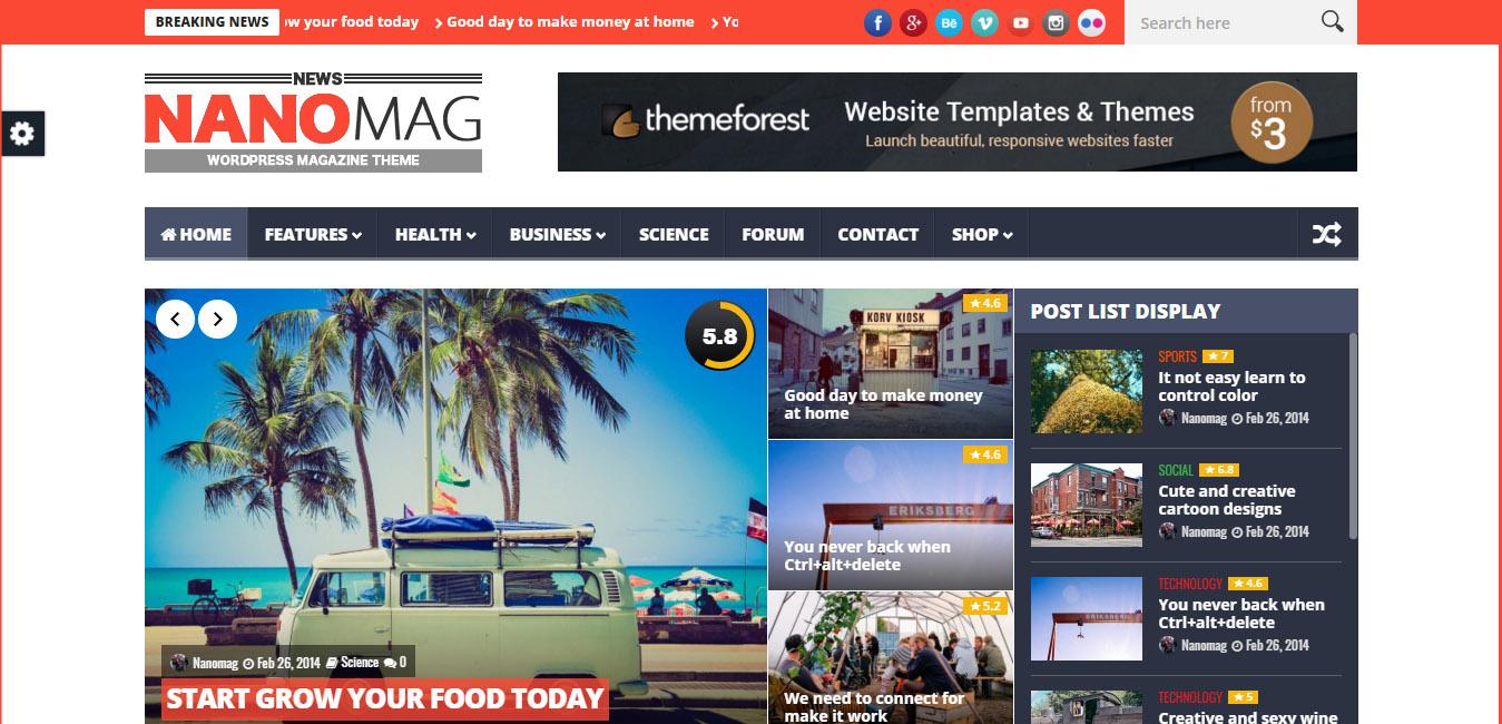 NanoMag - Responsive WP Magazine Theme