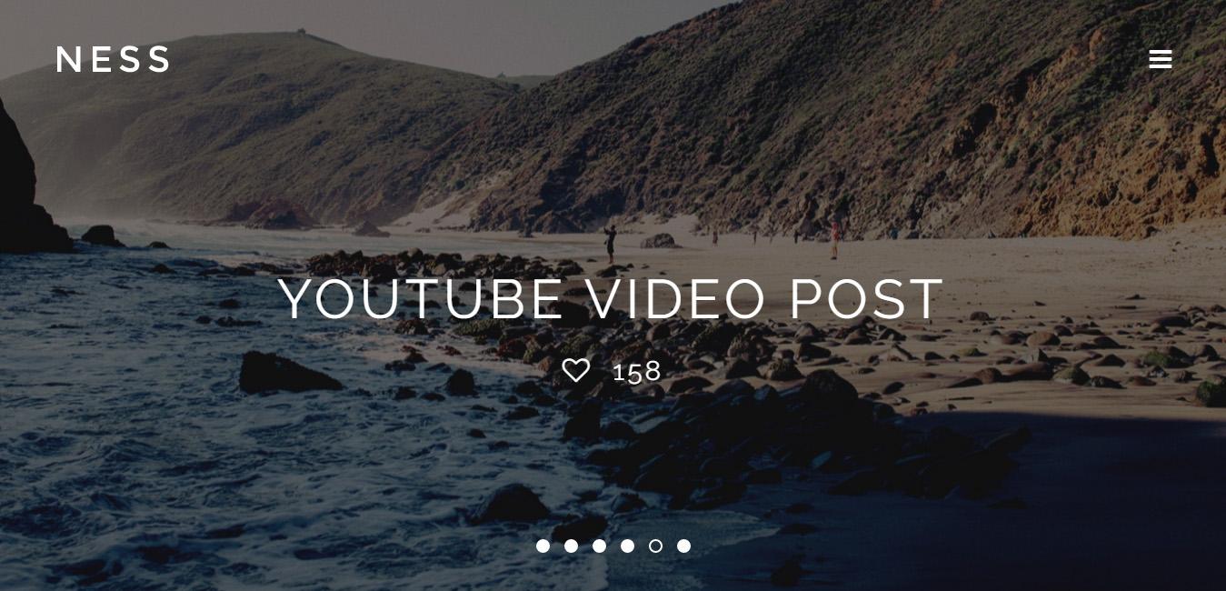 Ness - Minimalist Photo Magazine WordPress Theme