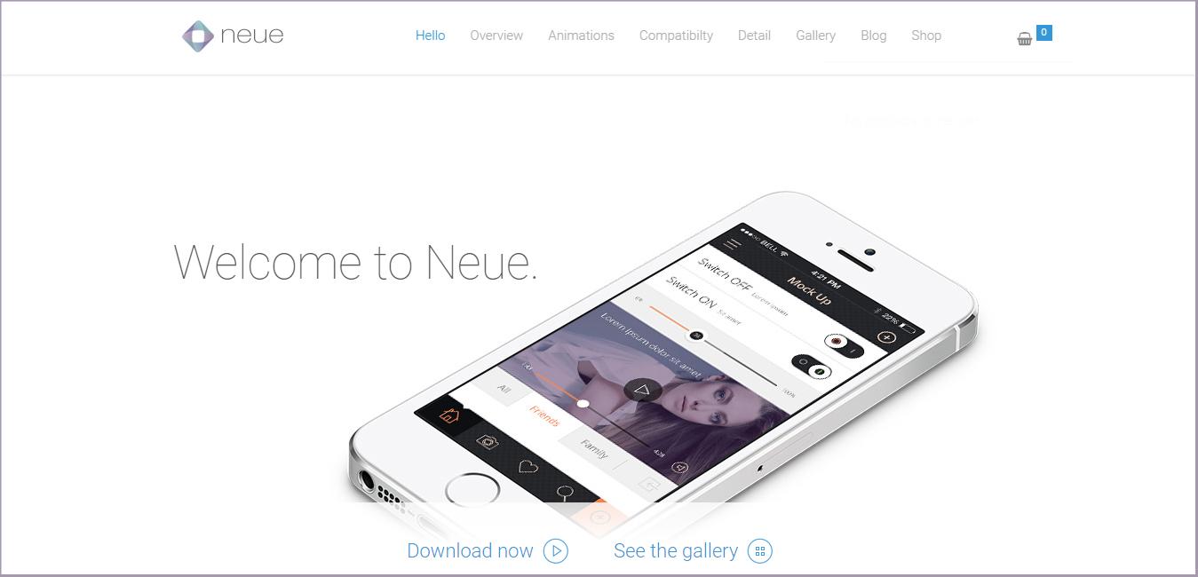 Neue - App Landing Page WordPress Theme