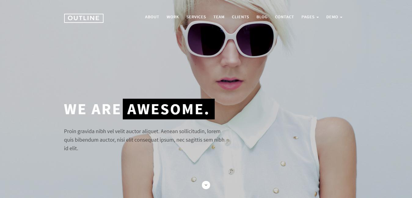 Outline - Creative WordPress Theme