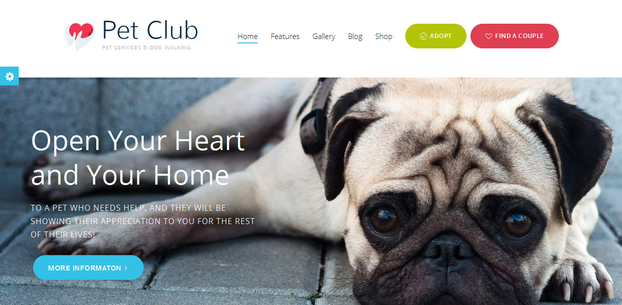 Pet Club - Dog WordPress Themes