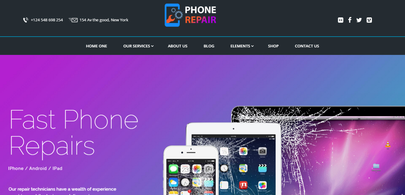 PhoneRepair - Mobile, Tablet, Phone Repair Shop Theme