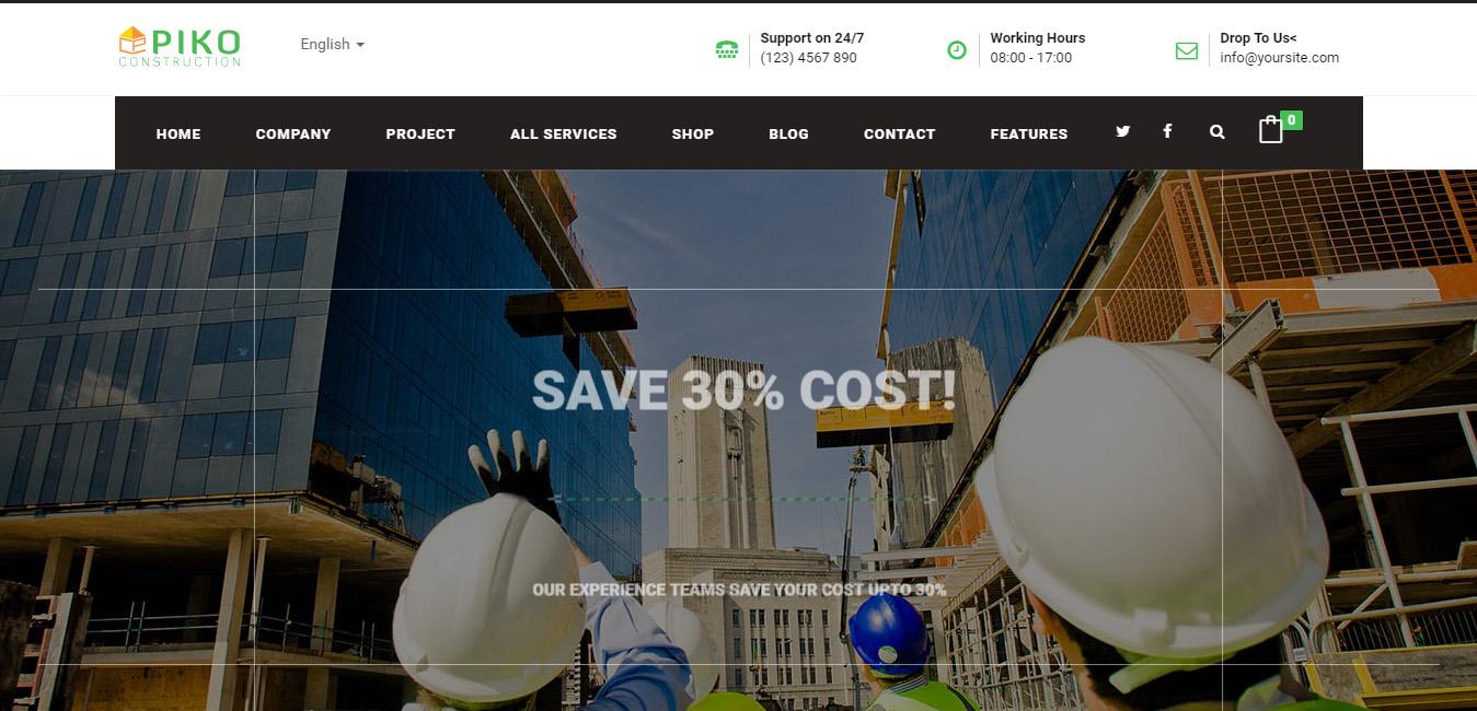 Pikocon - Construction, Building Business WP Theme