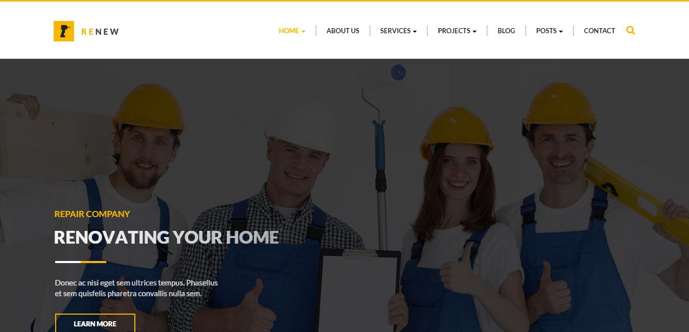 Renew - Building, Construction WordPress Theme