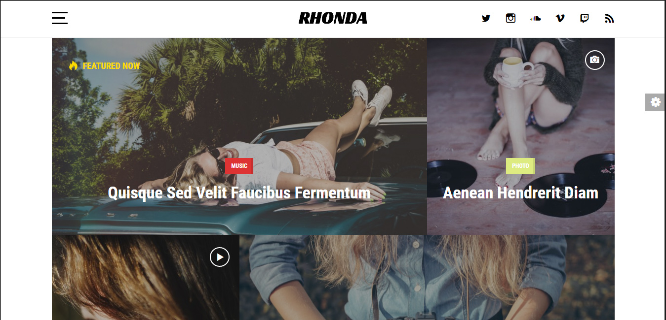 Rhonda - bootstrap WordPress themes