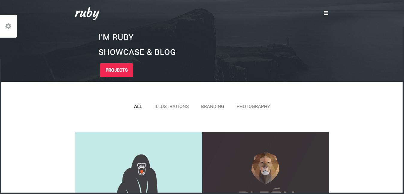 Ruby - Portfolio and Blog WordPress Theme