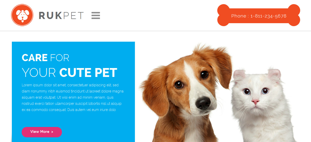 Rukpet - Dog WordPress Themes