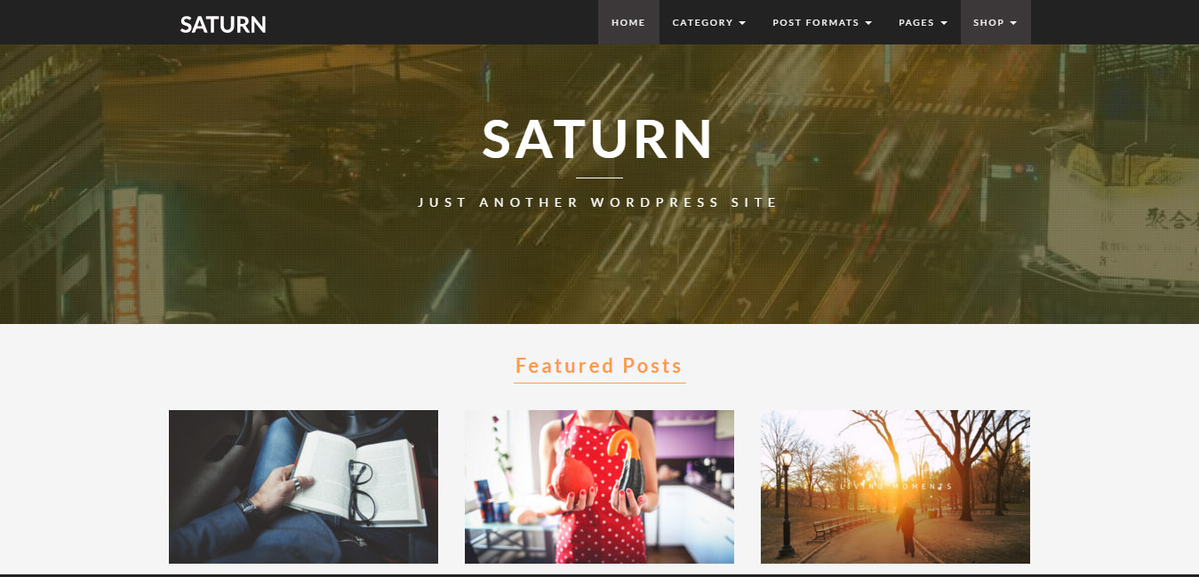 Saturn - Travel WordPress Blog Theme