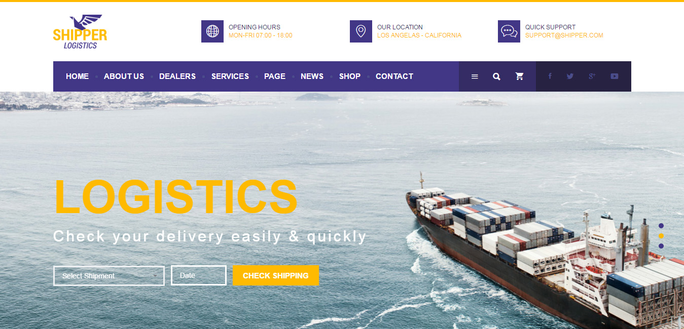Shipper Logistic - Transportation WordPress Theme