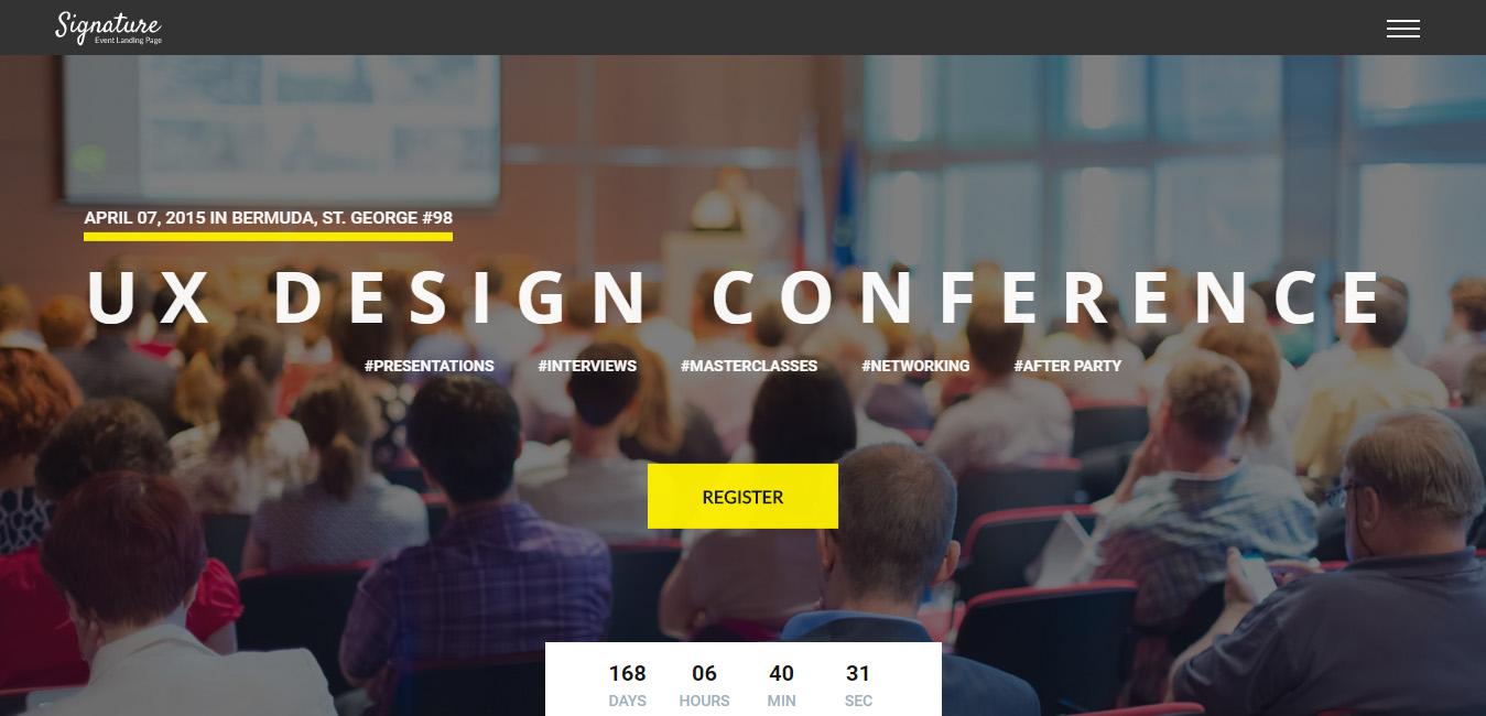 Signature - Conference Event WordPress Theme
