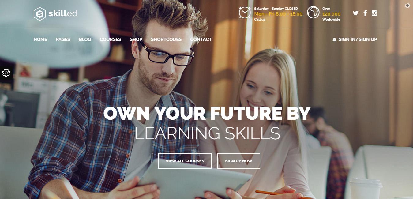 Skilled - School Education WordPress Theme