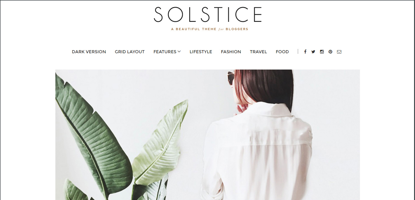 Solstice - contemporary WordPress themes