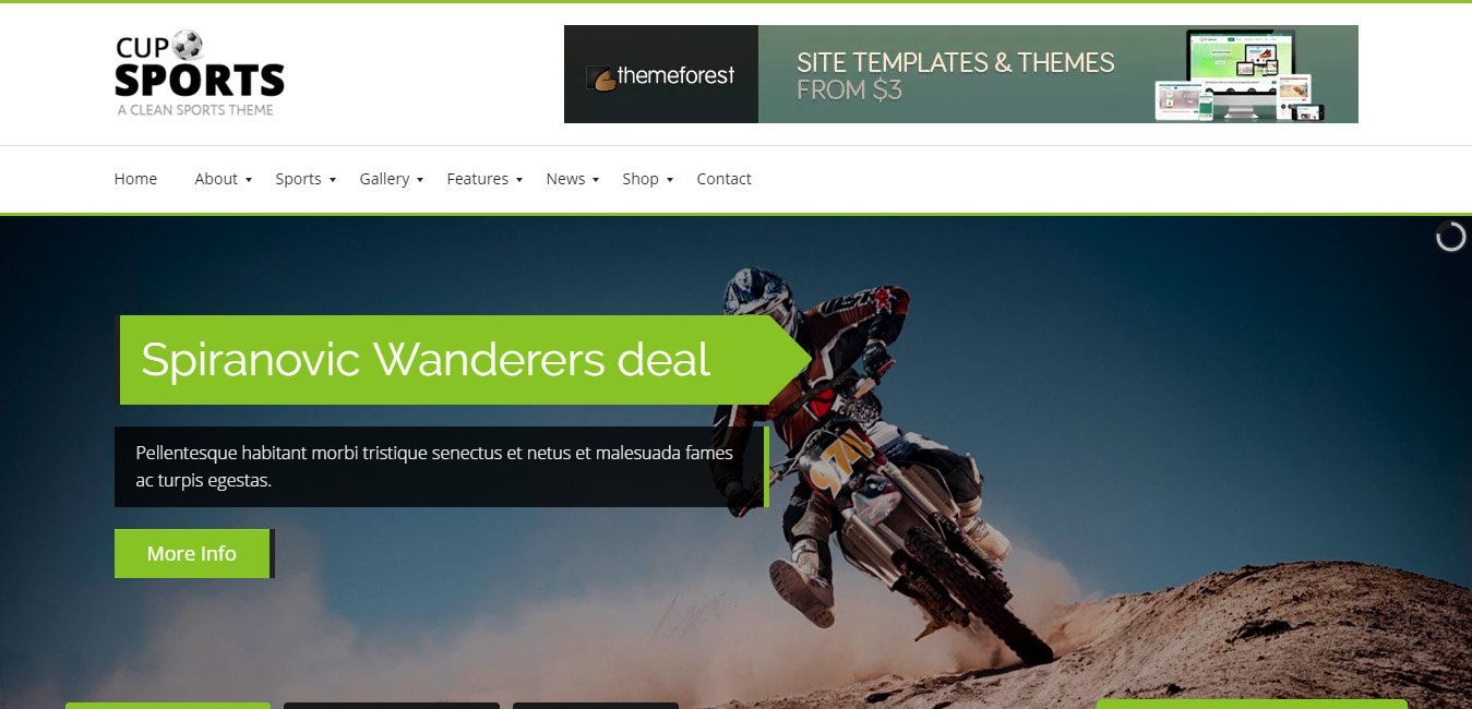 Sports Cup WordPress Theme