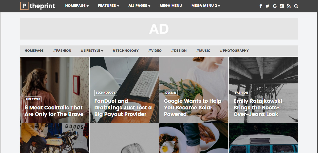 The Print - Magazines and Simple Blogs Theme