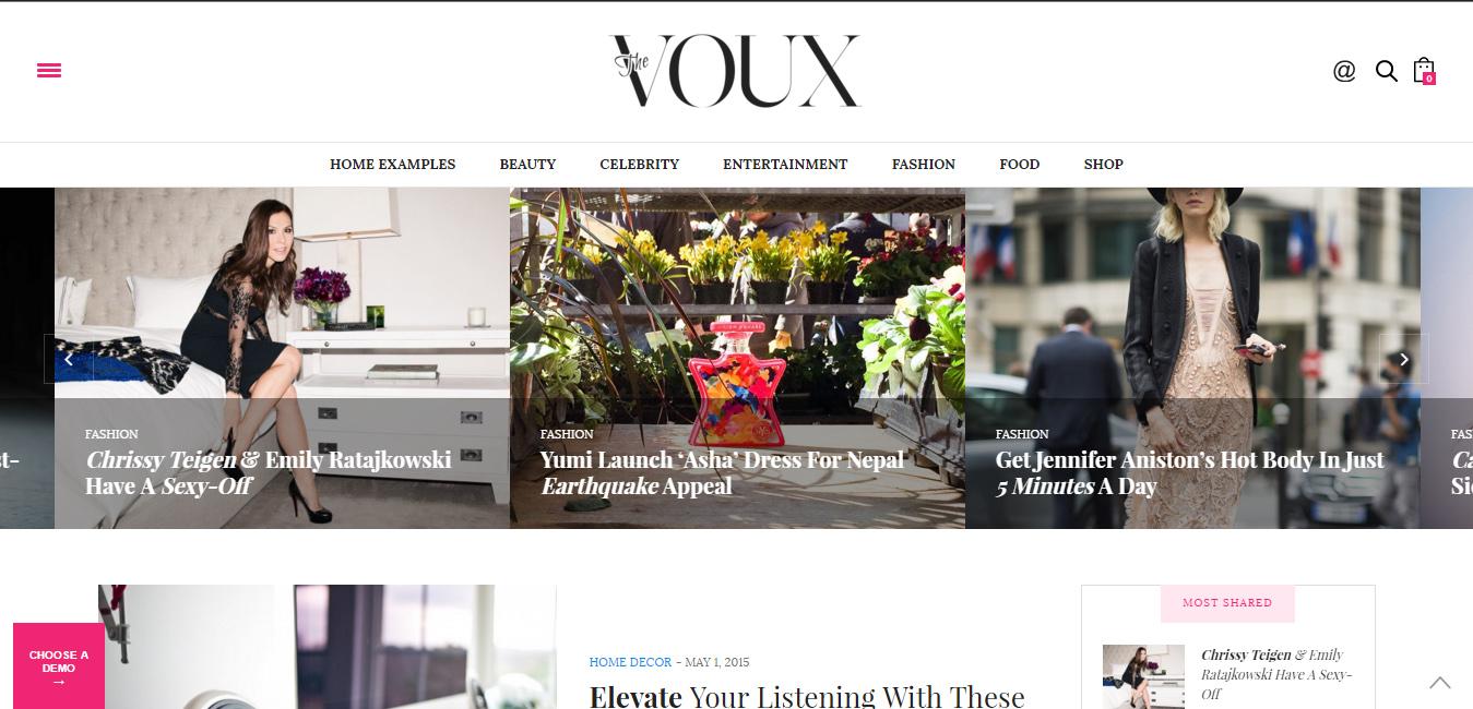 The Voux - WordPress Magazine Theme
