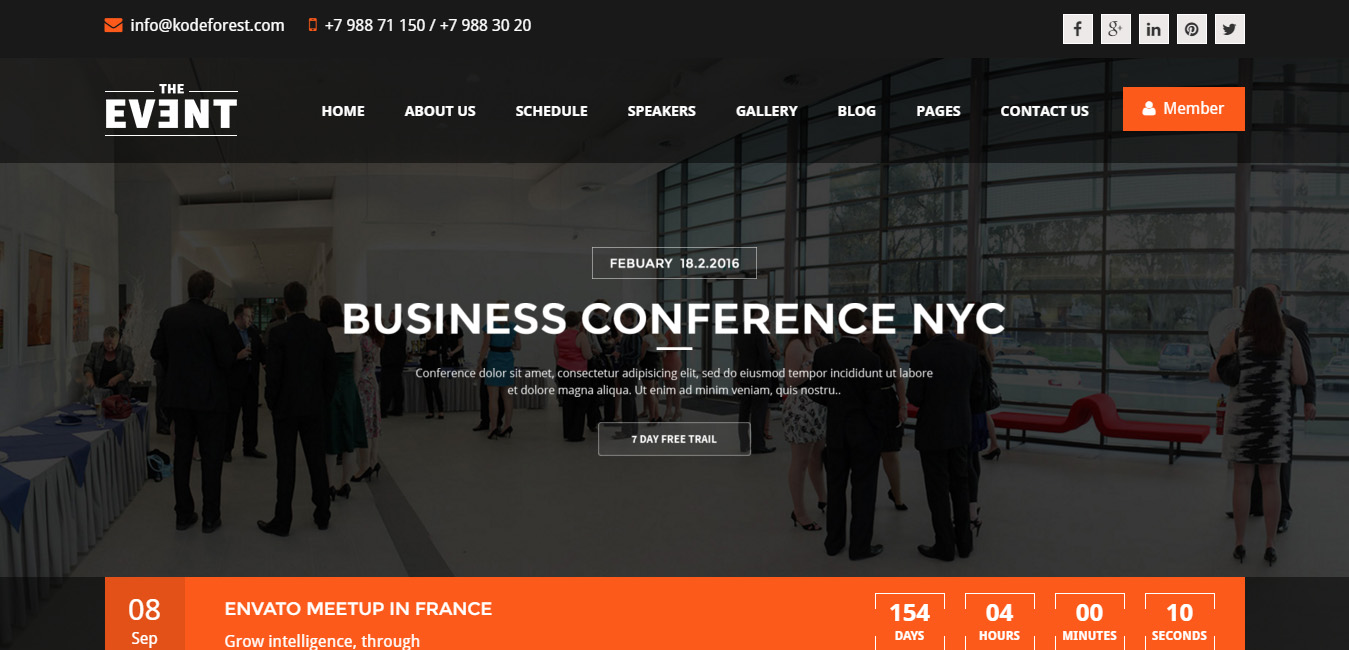 TheEvent - Event Management and Conference WP Theme