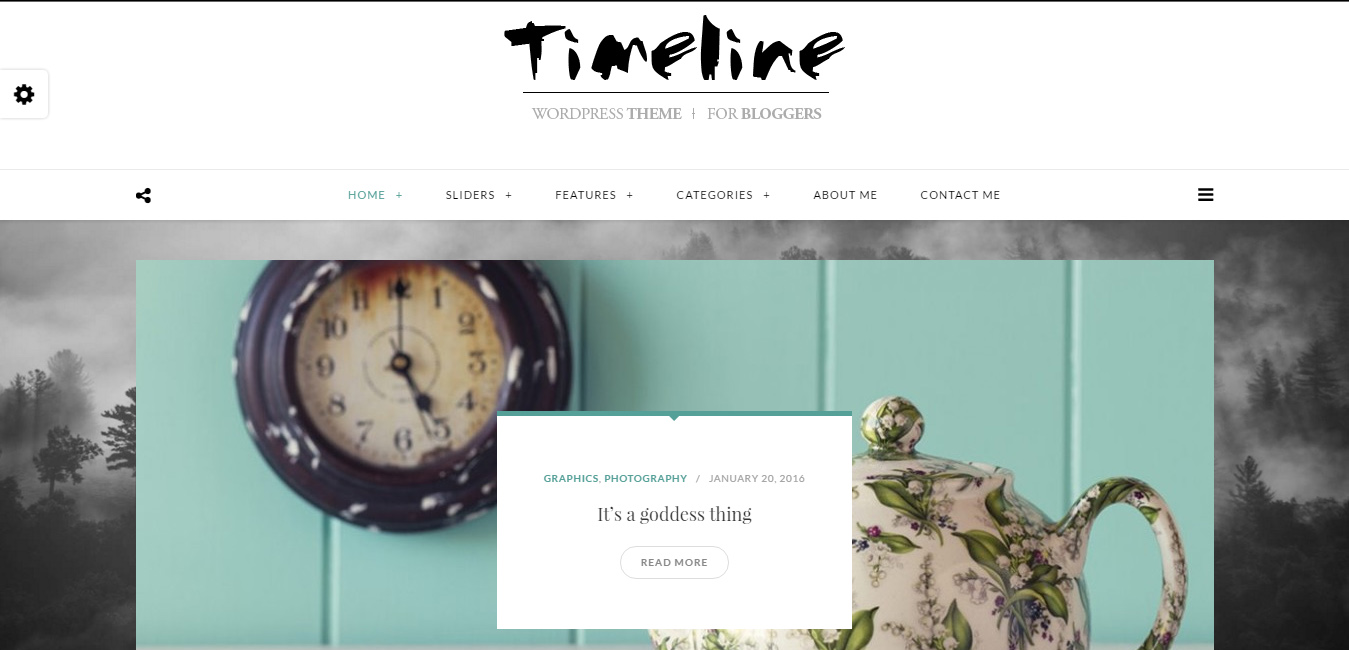Timeline - A Timeline WordPress Blog Theme