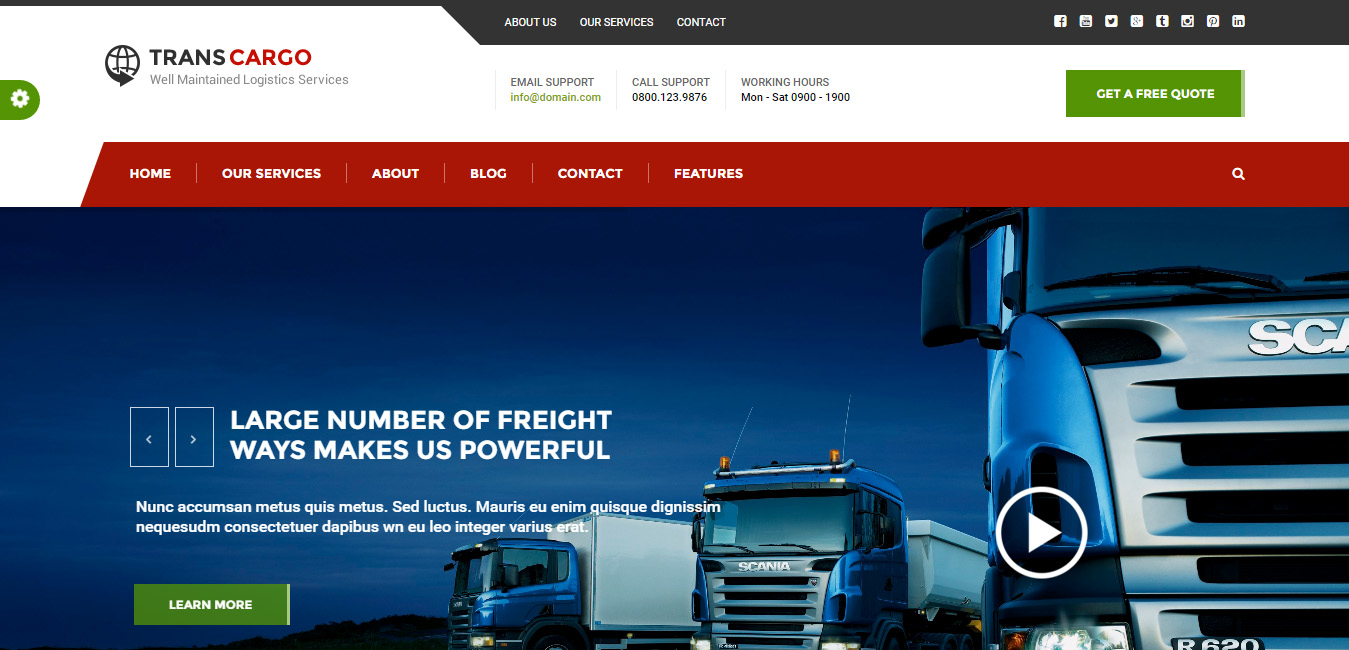 Trans Cargo - Transport & Logistics WordPress Theme