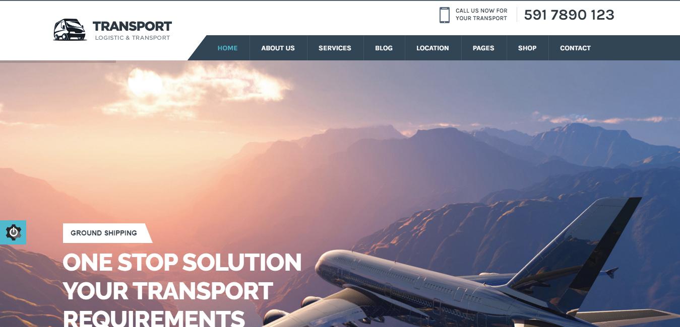 Transport - cargo wordpress themes