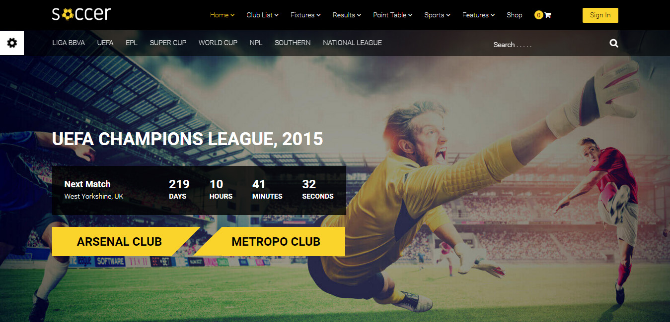 20 Best Football Wordpress Themes 2018 Designorbital
