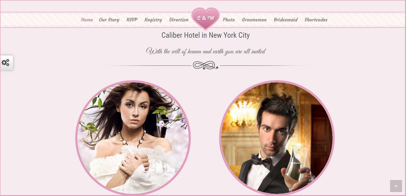 Wedding Event - fancy WordPress themes