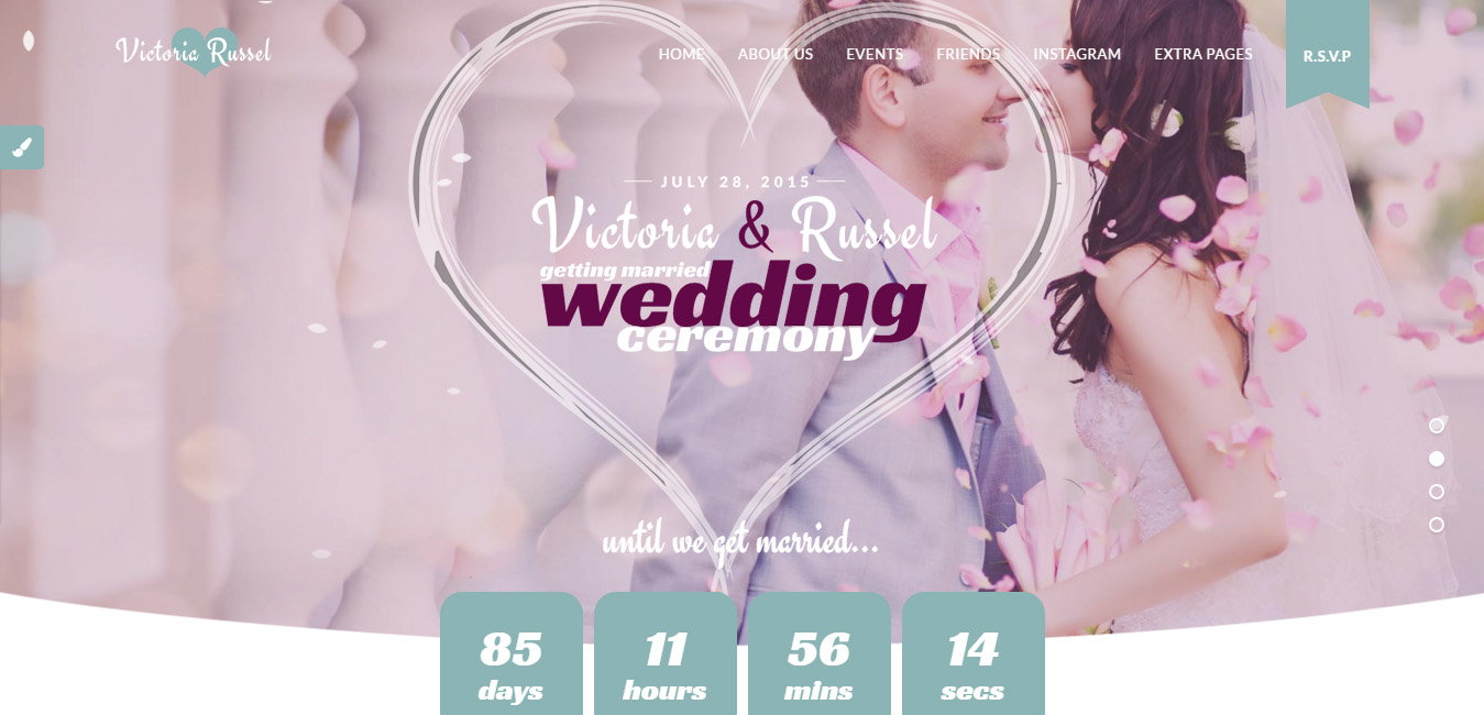 Wedding Fuchsia - WordPress Wedding Theme