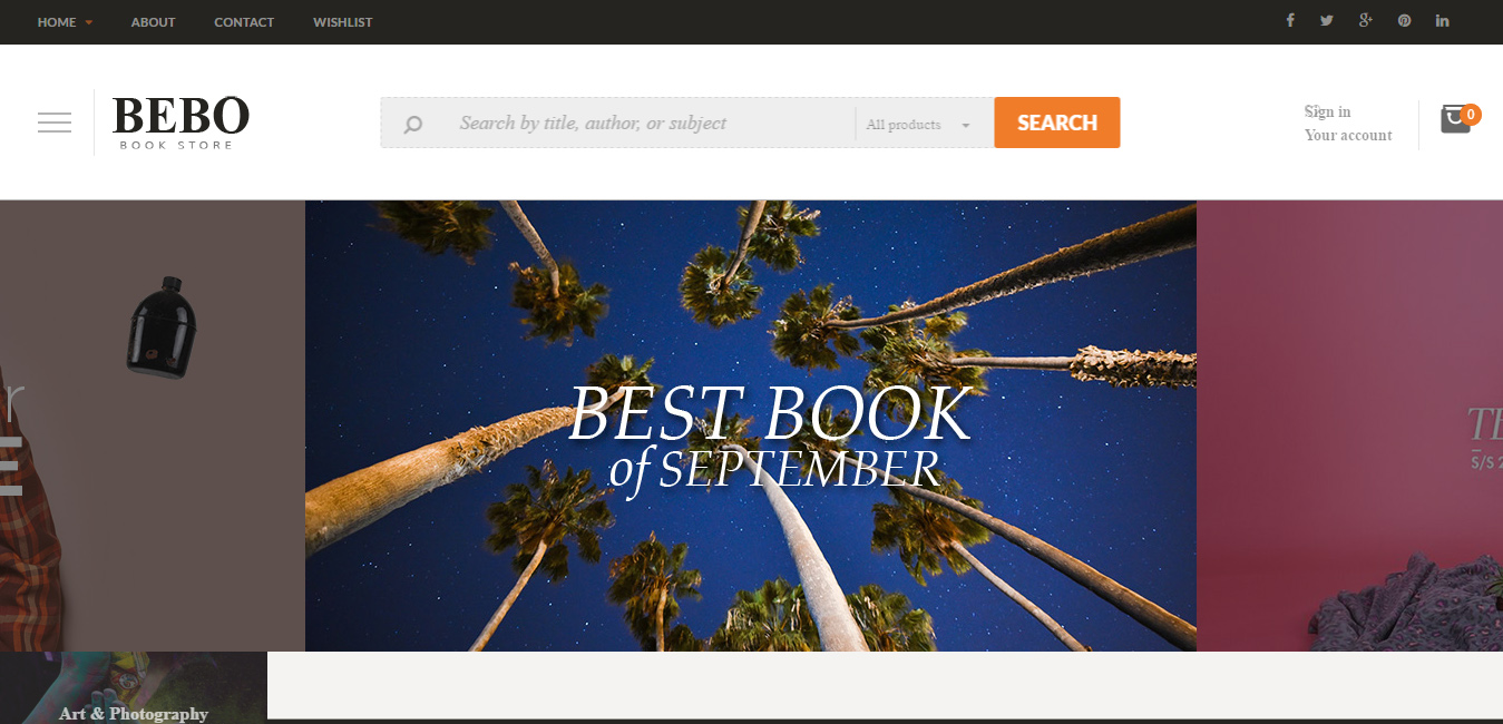 BEBO - Book Store WordPress Theme