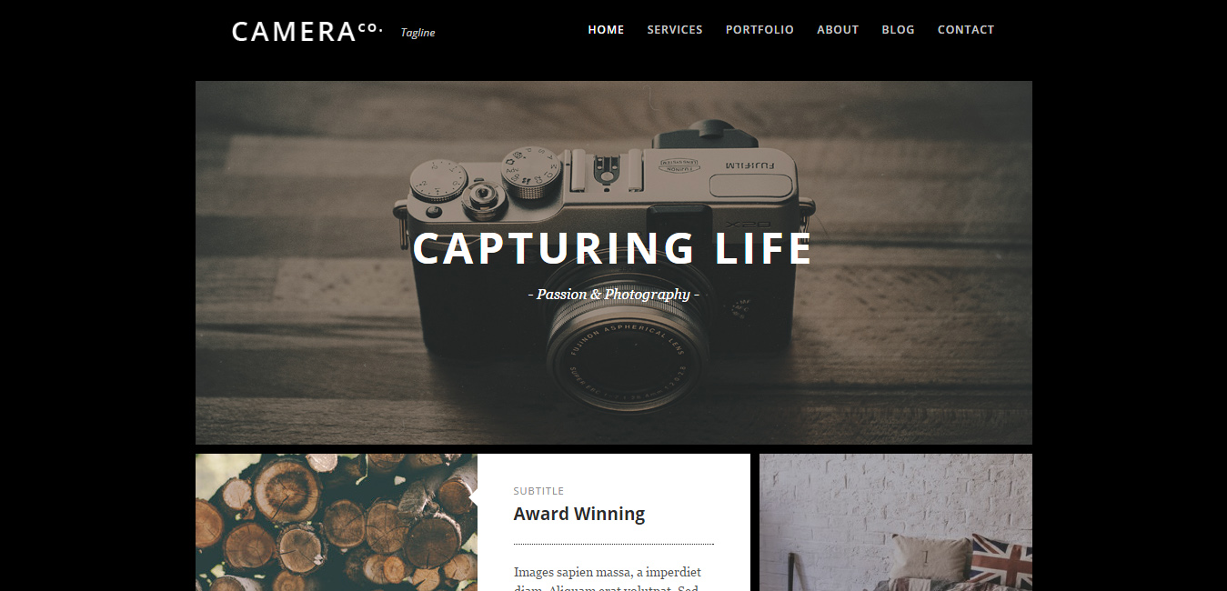 Camera - Black and White WordPress Themes