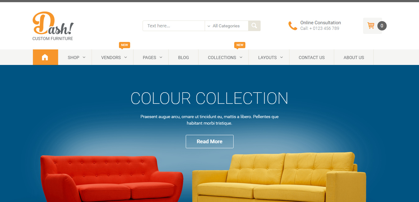 modern furniture store wordpress themes  designorbital - dash  handmade furniture marketplace theme