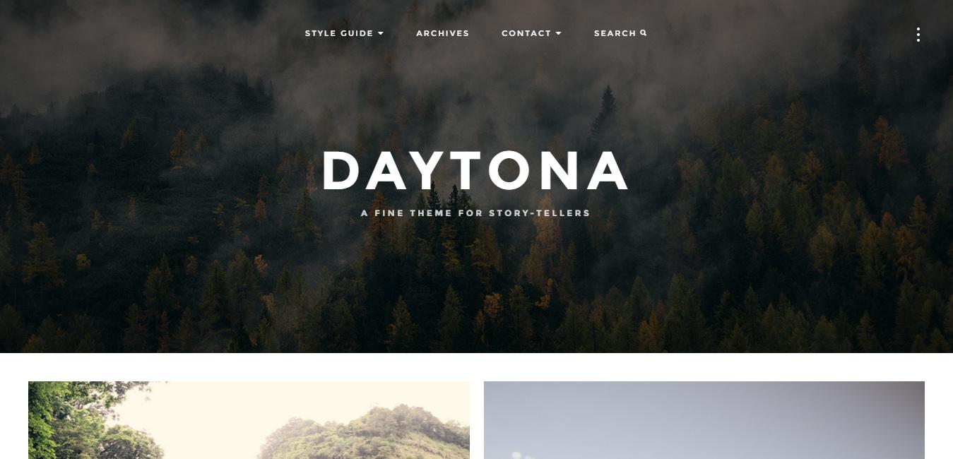 Daytona - Responsive WordPress Blog Theme