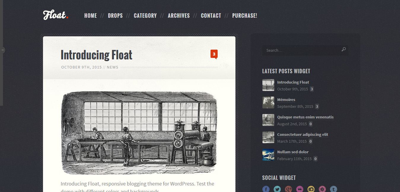 Float - Diary Style WordPress Themes