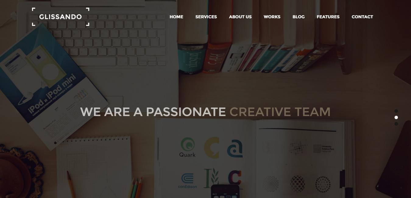 Glissando - Creative One Page Multipurpose Theme