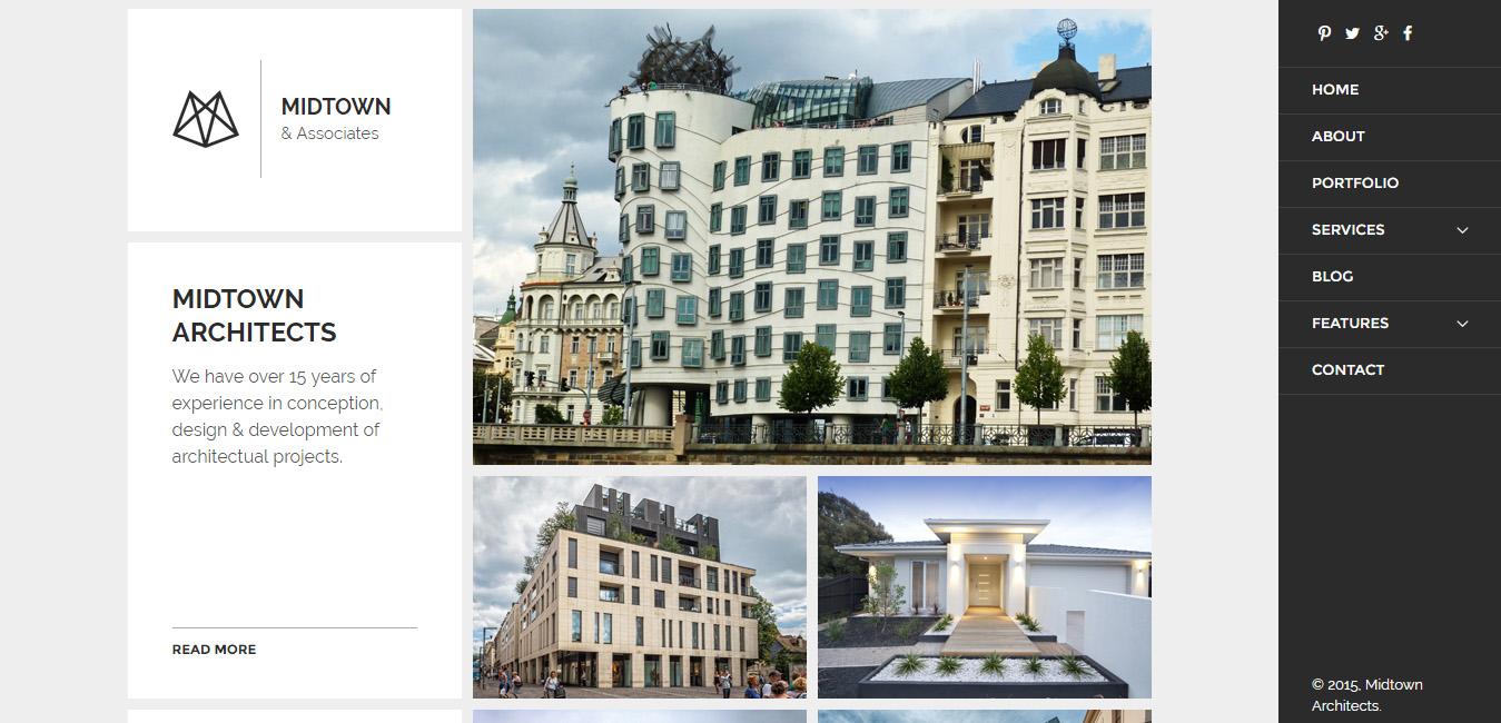 Midtown Architects - Responsive WordPress Theme