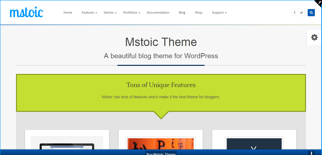 Mstoic - Responsive Blog WordPress Theme