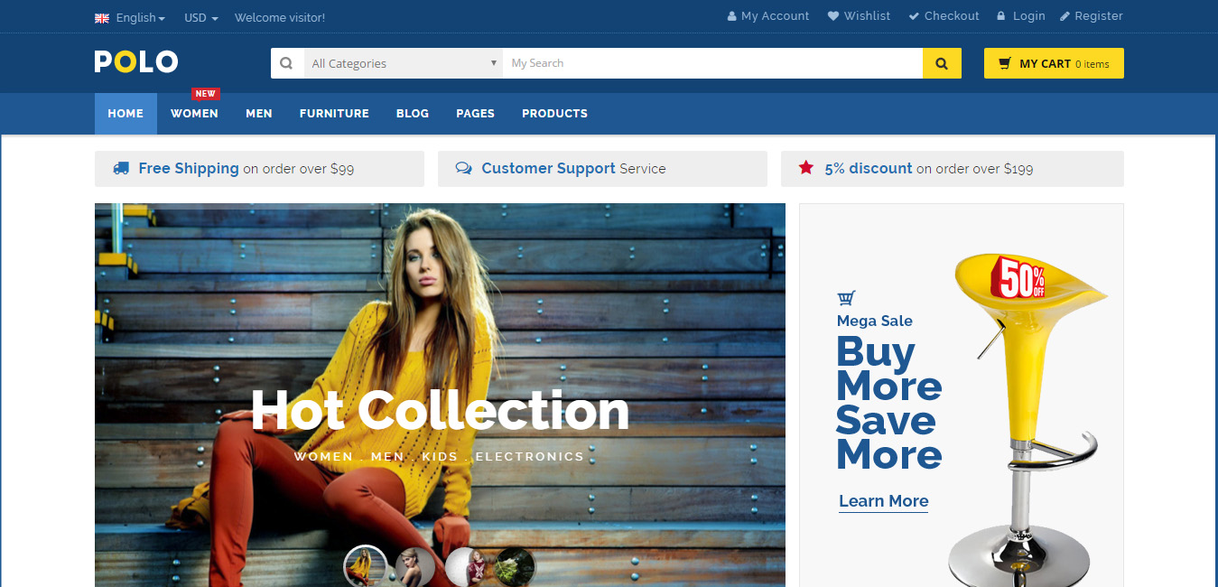 Polo - Multipurpose WooCommerce Theme