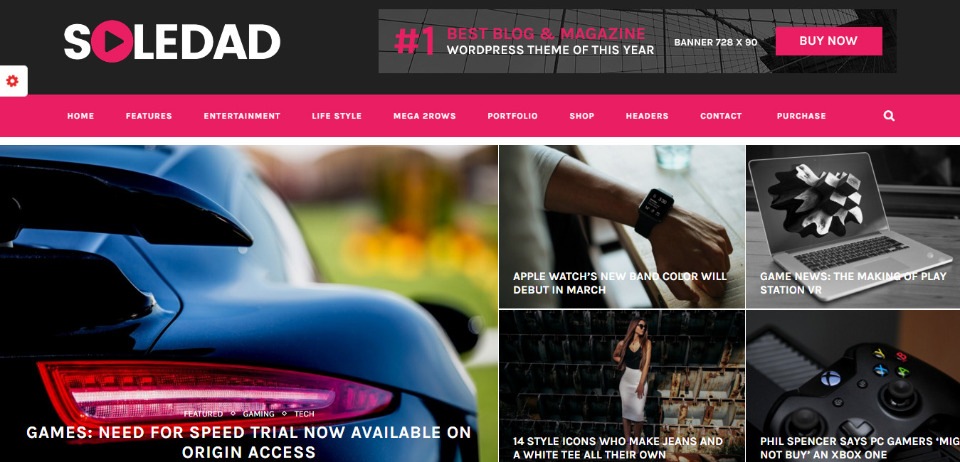 Soledad - infinite loading WordPress themes