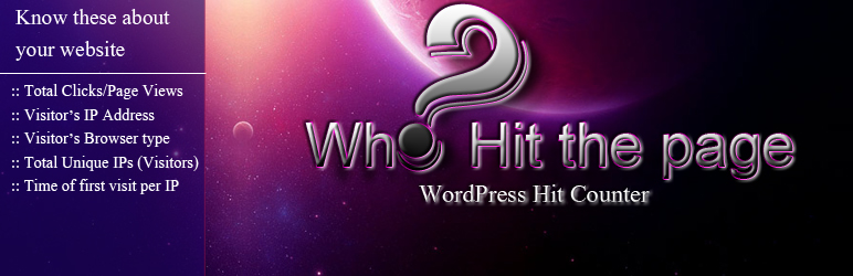 Who Hit The Page - Hit Counter