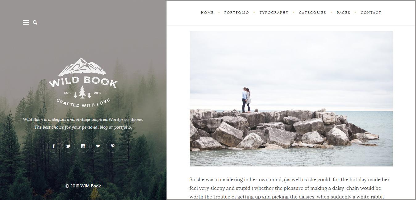 Wild Book - WordPress Personal Blog Theme