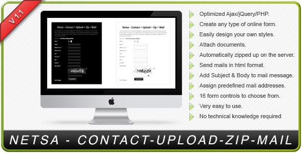NETSA - PHP AJAX Contact Forms