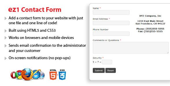 ez1 Contact Form