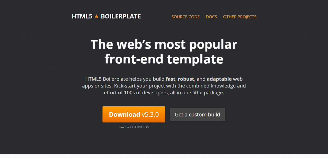 HTML5 Boilerplate - html5 development tools