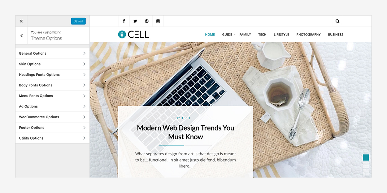 customizer-cell-wordpress-theme