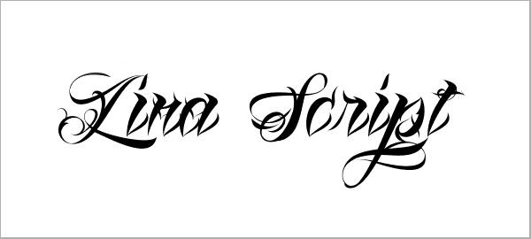 Lina Script Free Tattoo Fonts
