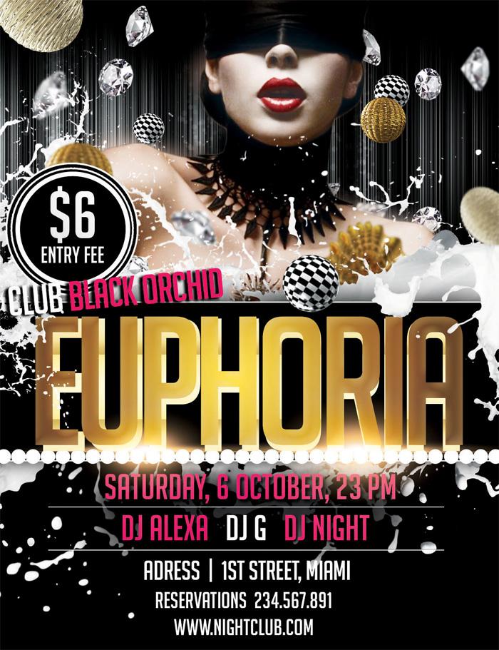 free-euphoria-psd-flyer